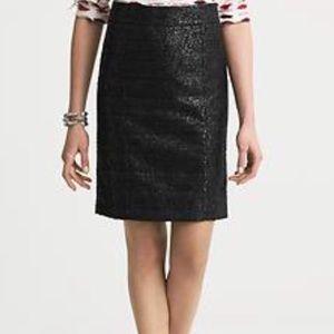 Banana Republic L'Wren Scott Black Crinkle Skirt